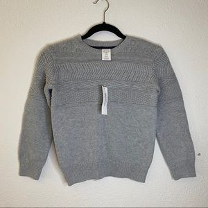 NWT Gymboree Gray Knitted sweater small (5-6)